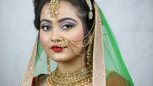 indian wedding  indian bride  bridal makeup