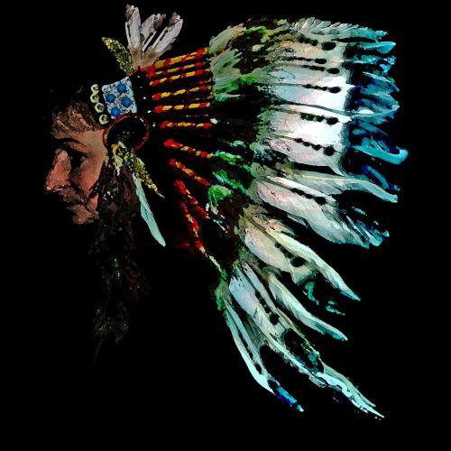 indians headdress chief