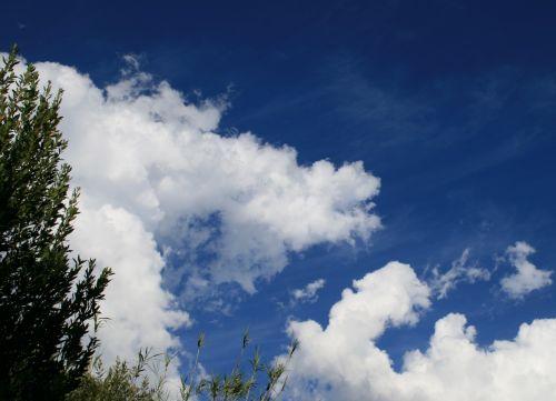 Indigo Sky And Loose Clouds