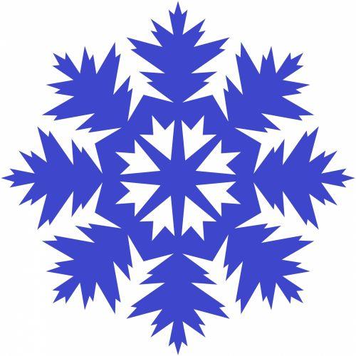Indigo Snowflake