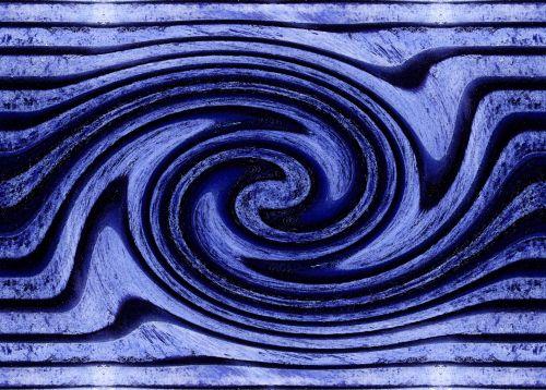 Indigo Swirl Print