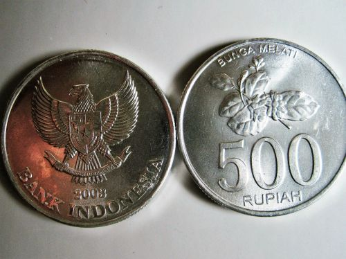 indochinese rupiah bank indonesia coins