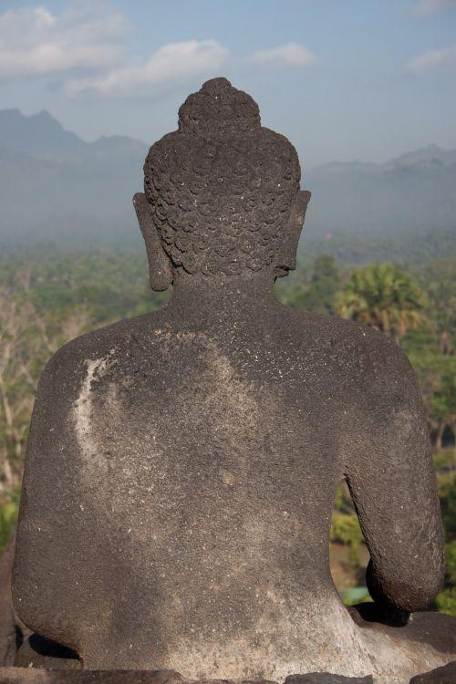 Indonezija,Bropudur,java,statula