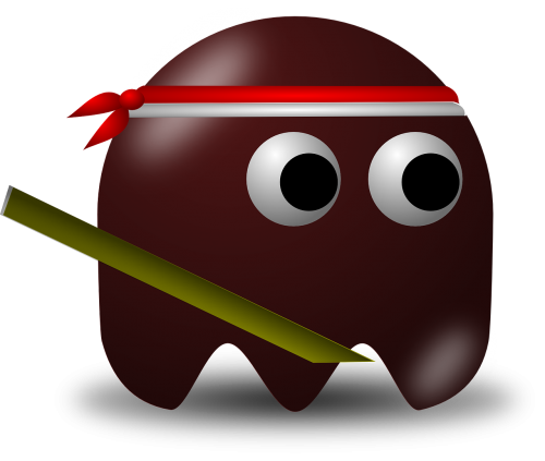 indonesian,warrior,brown,pacman,pac-man,cartoon,free vector graphics