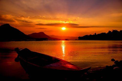 indonesian jatiluhur sunset