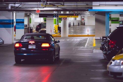 indoor  parking  car