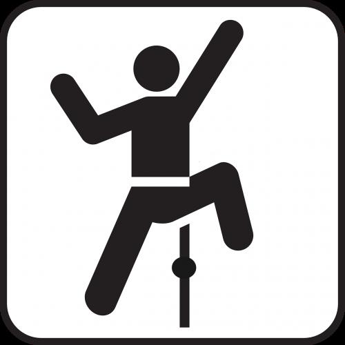 indoor climbing climber symbol