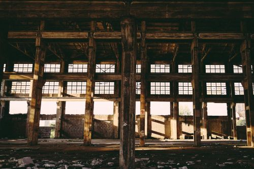 industrial old factory sunshine