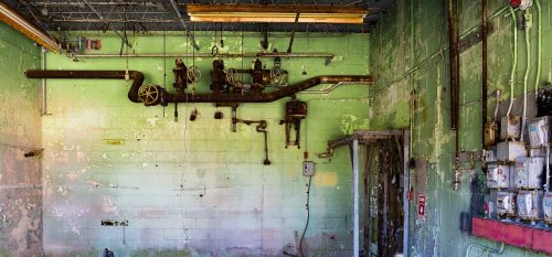 industrial old rusted