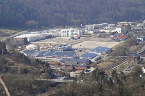 industrial area blue valley hamlet