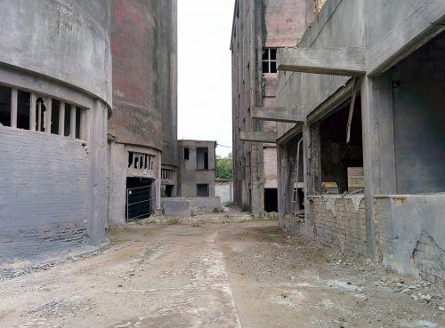industry factory building ruin