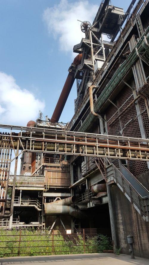 industry landscape park blast furnace