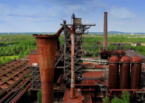 industry ruhr area blast furnace