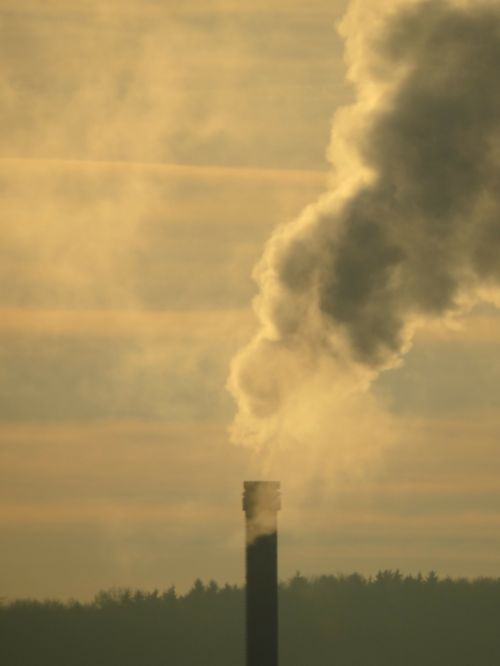 industry smoke chimney