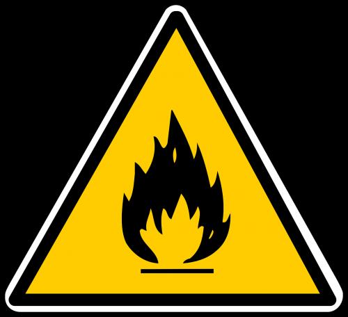 inflammable sign hazardous