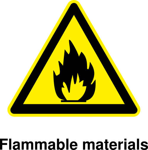 inflammable signs danger