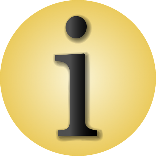 info information yellow