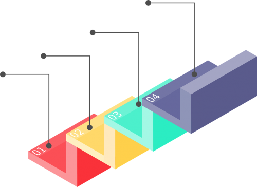 infographic staircase progress