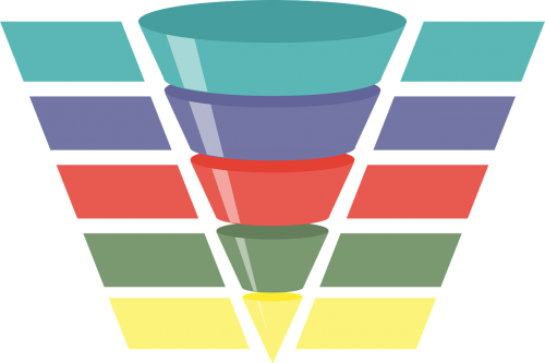 infographic funnel chart