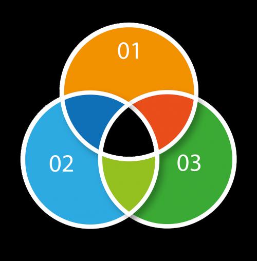 infographic statistics circle