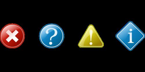 information warning question