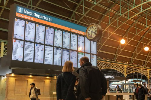 information  board  timetable