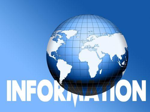 informacija,informacija,gaublys,pasaulis,žemė,rutulys,mėlynas,pranešimas
