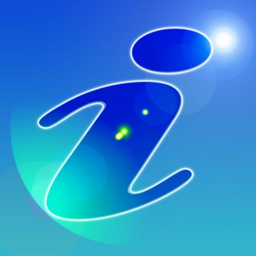 information symbol blue