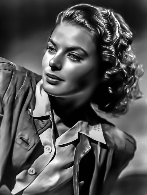 ingred bergman-female portrait hollywood