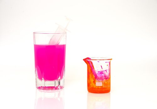 ink  pink  glass