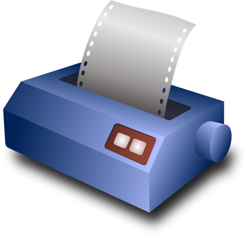 inkjet printer print document