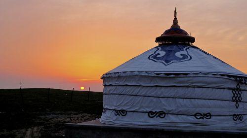 inner mongolia sunset tranquility