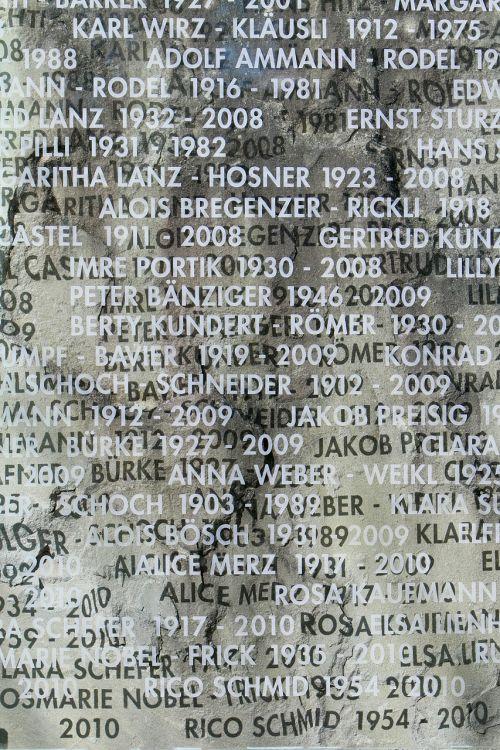 inscription board name