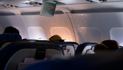 inside airline airplane