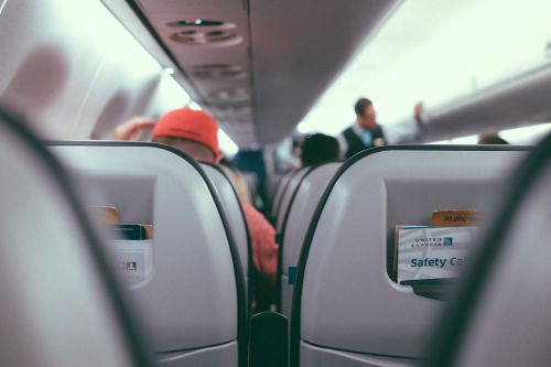 inside airplane airline