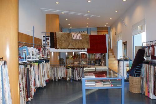 inside shop fabrics