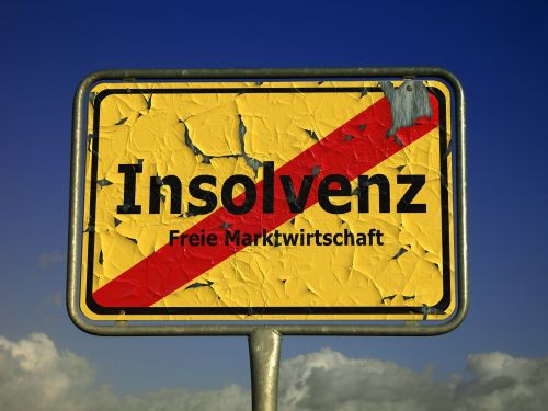 insolvency shield town sign
