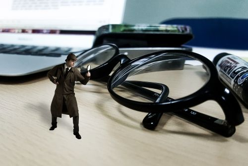 inspector searching crime