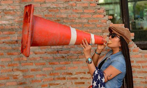 instructor megaphone bullhorn