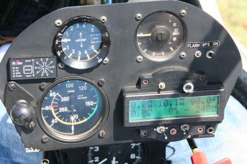 instrument panel gliding cockpit