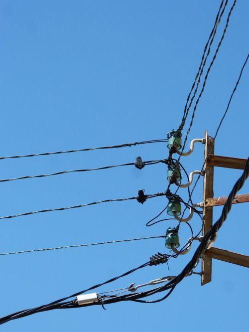 insulators cables power line