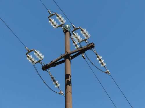 insulators overhead line electricity pylon