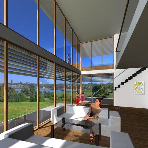 interior villa rendering