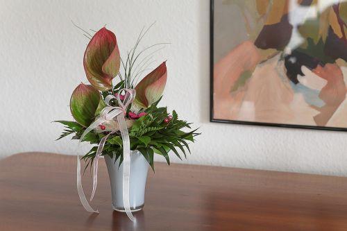 interior bouquet birthday card