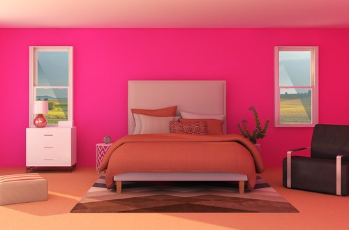 interior  bed  pink