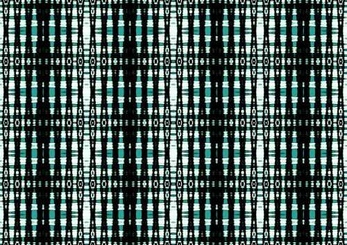 Interlaced Grid Pattern In Aqua