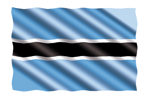 international flag botswana