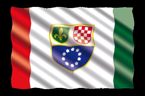 international flag bosnia and herzegovina