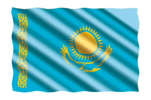 international flag kazakhstan