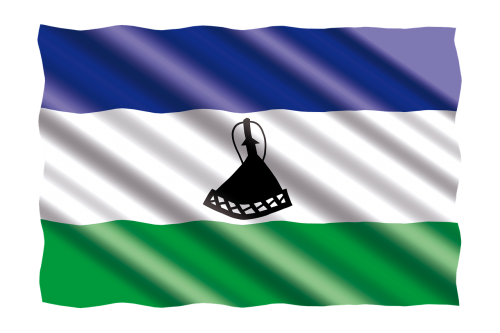 international flag lesotho